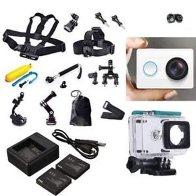 XiaoMi Yi Sports Action Camera+Accessories Kit+Dual charger Battery Case Belt